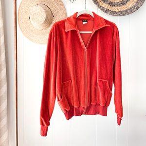 Vintage Terry Zip-Up Sweater